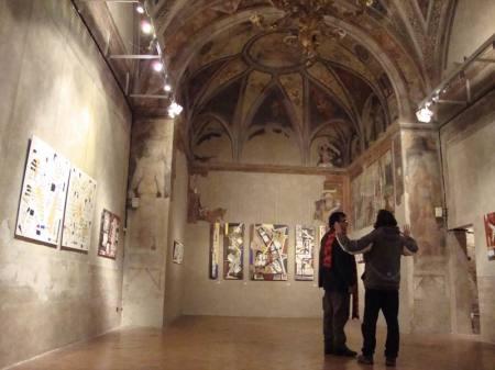Mostra di Biagio Cepollaro Da strato a strato- Antiquum Oratorium Passionis-Basilica S.Ambrogio- 2010